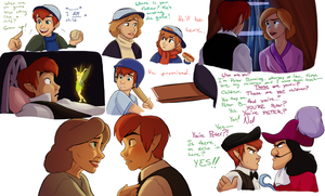 Disneyfied Hook: sketchdump by Suzukiwee1357