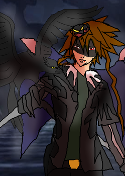 Soraxess and his raven by Absolhunter251