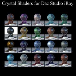 Crystal Shaders for Daz Studio iRay by BohemianHarlot