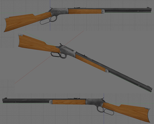Winchester 1892 textured by Beowulf71