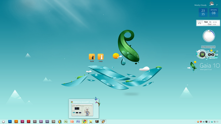 Gaia10 win7 desktop screenshot by becomm