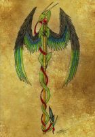 Caduceus by EmeraldRainDragon