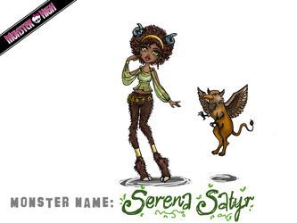 Monster High Contest: Serena Satyr by MetallicDynamite