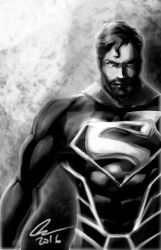 Superman bearded by randomality85