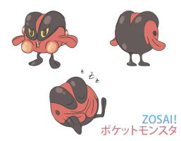 Fire frog Pokemon by Zosai