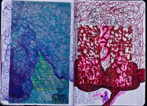 Sketchbook Project Limited Edition 2012 #22-23 by Nakilicious