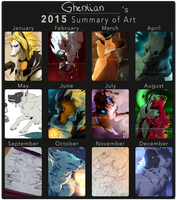 Ghentian's 2015 Summary Of Art by Ghentian