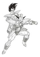 Vegeta vs Ginyu by Blood-Splach