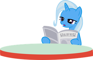 Trixie Reading the Paper by NimbusThePoni