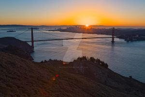 San Francisco Sunrise - Exclusive HDR Stock by somadjinn