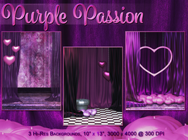 Purple Passion Backgrounds by poserfan
