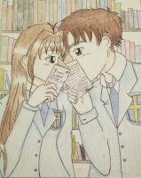Love in the Library. by Mesaku18