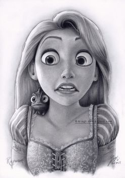 Rapunzel Drawing 4 by B-AGT