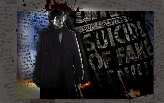 Spare a Thought for Sherlock Wallpaper by LadyUranus