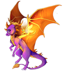 The Purple Dragon by Uvrenaux