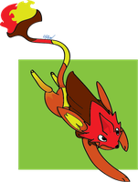 Laris Fire type Tomamon by RikoriStorm