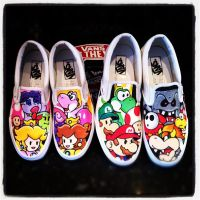 Paper Mario Vans Girls and Boys by VeryBadThing