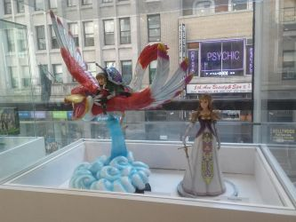 Nintendo NY - SS Link and TP Zelda figures by Ch40sKnight