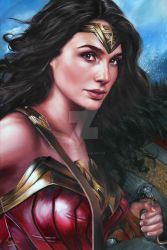 WONDER-WOMAN/GAL GADOT PORTRAIT by FredIanParis