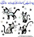 Virtual Stickers - Glitter Cats by JB-Pawstep
