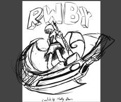 RWBY Poster Sketch by Saber-Cow