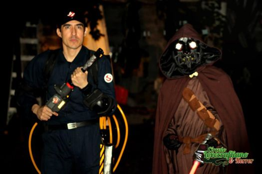 Real Ghostbuster and Original Star Wars character by KronnangDunn