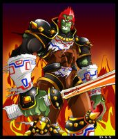 Ganondorf OOT Coloured by darkly-shaded-shadow