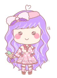 .:Commish:. LinePlay Aerino (Sweety Dolly Style) by PeppermentPanda