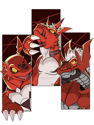 Digimon: Guilmon by KLouDraws