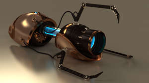 Portal gun steampunk - Fan art (CodyNaomiSwire) by Etrelley