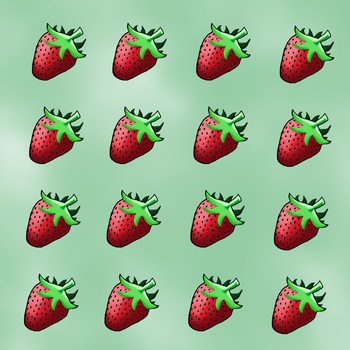A bunch of strawberries by Klarkao