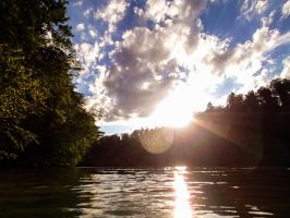 River Aare - View swimming in the water I by Rela1985