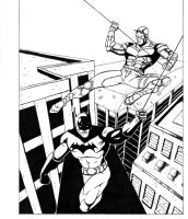 Batman and Daredevil by HorrorClaus