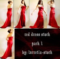 red dress stock pack 1 by lucretia-stock