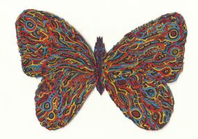 Hallucinogenic Hyper Butterfly by OKAINAIMAGE
