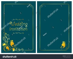 Stock-vector-dark-cyan-wedding-invitation-card-and by DeviserArt