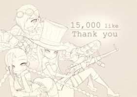 [LOL] Thank you for 15000 like on faaaaacebook~~! by beanbeancurd