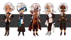 White haired chibis [CLOSED] by Pixel-Pup