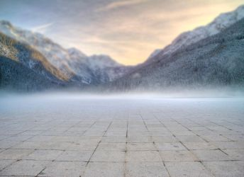 Mountains and path premade BG I by StarsColdNight