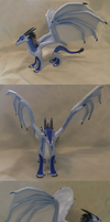 Wings of Fire Icewing sculpture- prototype by Iron-Zing