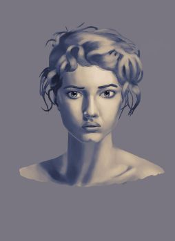 Grey scale face quick practice by huesuxart