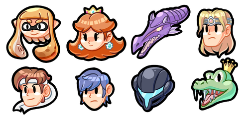 Super Smash Bros icons (Ultimate newcomers) by ShyKitty20