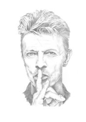 David Bowie Sketch by Carl-Seager