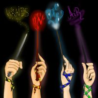 Put your wands in the air! by Hate-Incarnate
