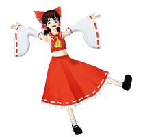 Reimu Render by Vex2001