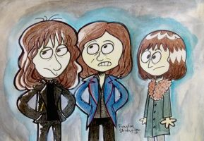 Emerson Lake and Palmer by rachetcartoons
