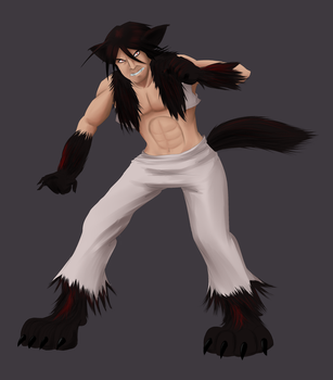 dAF: Riley's Half-Wolf Form by witch-girl-pilar
