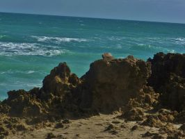 Rocky Beach Of Hutchinson Island by Matthew-Beziat