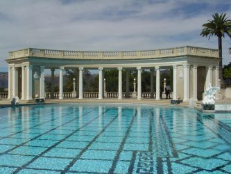 Hearst Castle Pool 3 by StockWolfwood
