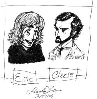 Eric and Cleese doodle by dwightyoakamfan